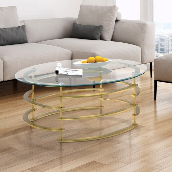 Shop Silver Orchid Marcello Contemporary Glass Top Coffee Regarding Silver Orchid Ipsen Contemporary Glass Top Coffee Tables (View 2 of 25)