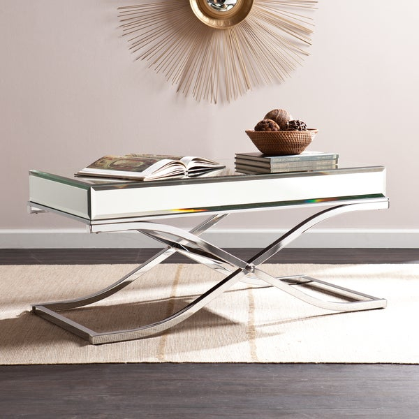 Featured Image of Silver Orchid Olivia Chrome Mirrored Coffee Cocktail Tables