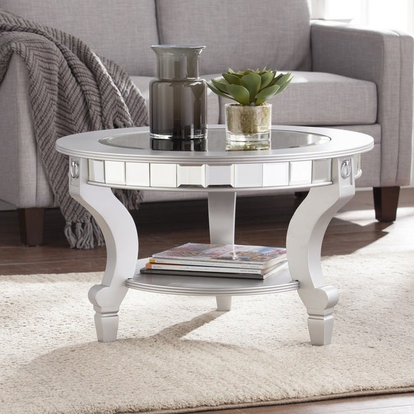 Featured Image of Silver Orchid Olivia Glam Mirrored Round Cocktail Tables