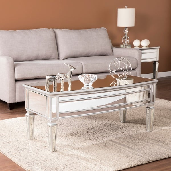 Featured Image of Silver Orchid Olivia Mirrored Coffee Cocktail Tables