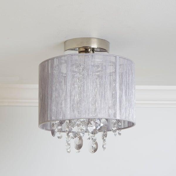 Shop Silvia String Beaded Flush Mount Ceiling Light – On Intended For Alverez 4 Light Drum Chandeliers (Image 15 of 20)