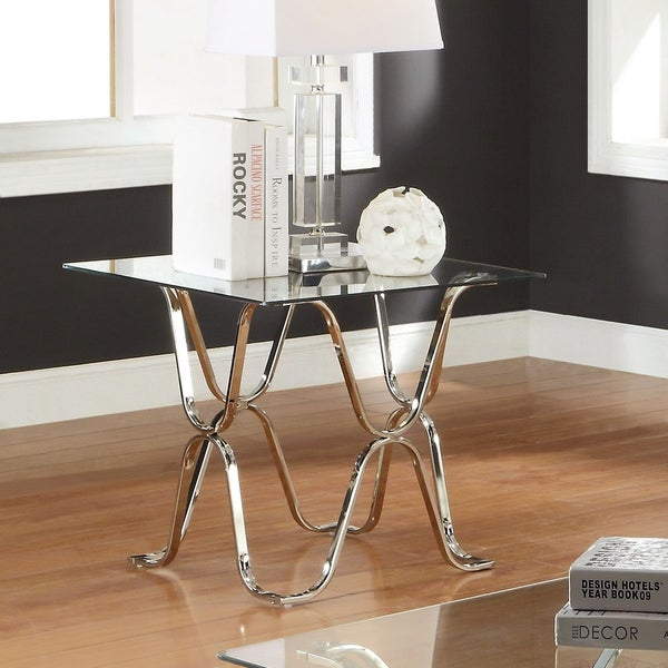 Shop Tellarie Contemporary Chrome End Tablefoa – Free With Regard To Furniture Of America Tellarie Contemporary Chrome Coffee Tables (View 5 of 25)
