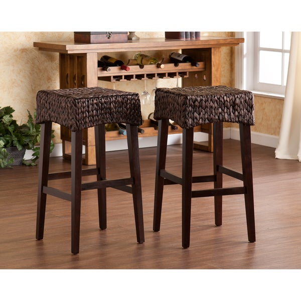 Shop The Curated Nomad Belize Counter Height Stool (Set Of 2 Within The Curated Nomad Belize Woven Cocktail Tables (View 5 of 25)