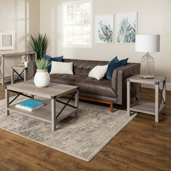 Shop The Gray Barn 3 Piece Metal X Table Set – 40 X 22 X 18H Within The Gray Barn Kujawa Metal X Coffee Tables – 40 X 22 X 18H (View 2 of 25)