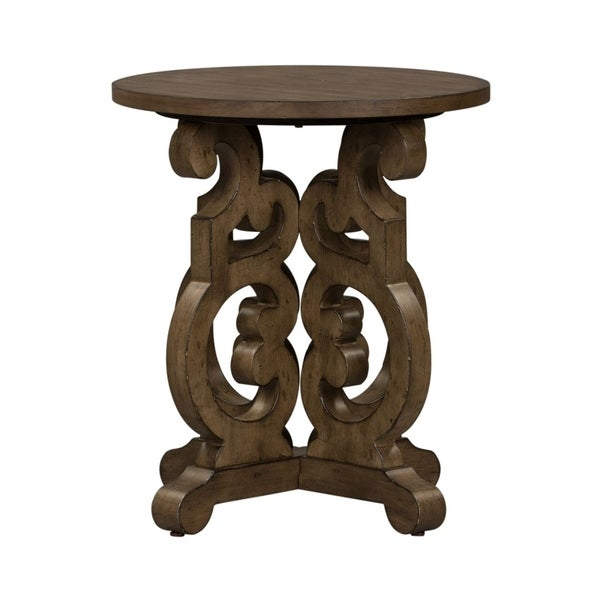 Shop The Gray Barn Flying Hooves Heathered Brownstone Round For Gracewood Hollow Dones Traditional Cinnamon Round End Tables (View 22 of 25)