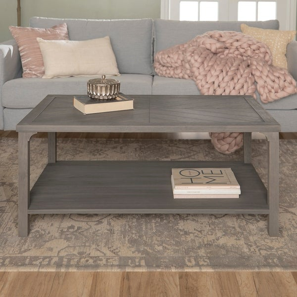 Shop The Gray Barn Kujawa Chevron Coffee Table – 42 X 24 X Pertaining To The Gray Barn Kujawa Metal X Coffee Tables – 40 X 22 X 18H (View 4 of 25)
