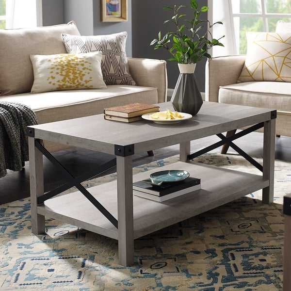 Featured Image of The Gray Barn Kujawa Metal X Coffee Tables – 40 X 22 X 18H