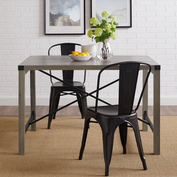 Shop The Gray Barn Kujawa Metal X Dining Table – 48 X 32 X With The Gray Barn Kujawa Metal X Coffee Tables – 40 X 22 X 18H (View 7 of 25)