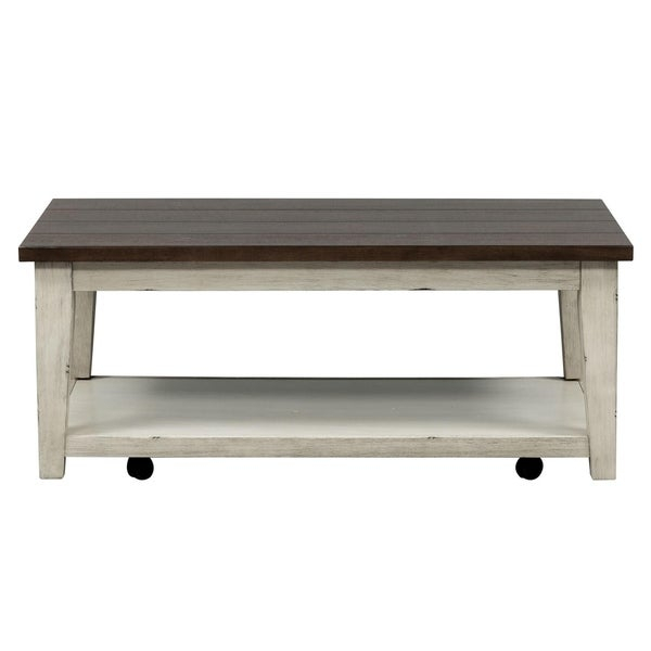 Featured Image of The Gray Barn O'quinn Weathered Bark And White Castered Cocktail Tables
