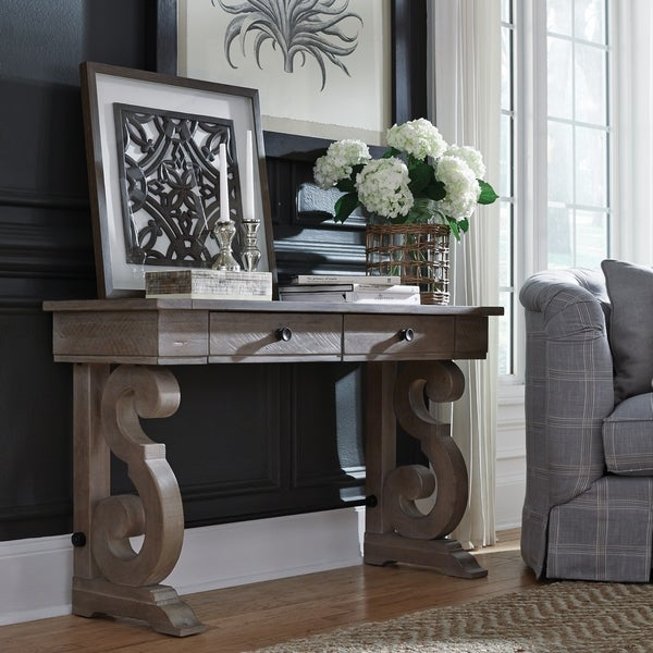 Shop Tinley Park Traditional Dove Tail Grey Entryway Sofa With Tinley Park Traditional Dove Tail Grey Coffee Tables (View 4 of 25)