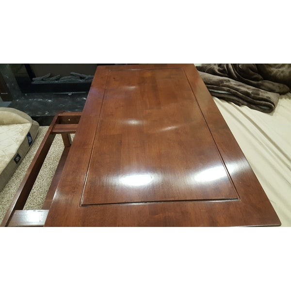 Shop Unfinished Solid Parawood Bombay Tall Lift Top Coffee Throughout Unfinished Solid Parawood Bombay Tall Lift Top Coffee Tables (View 16 of 25)