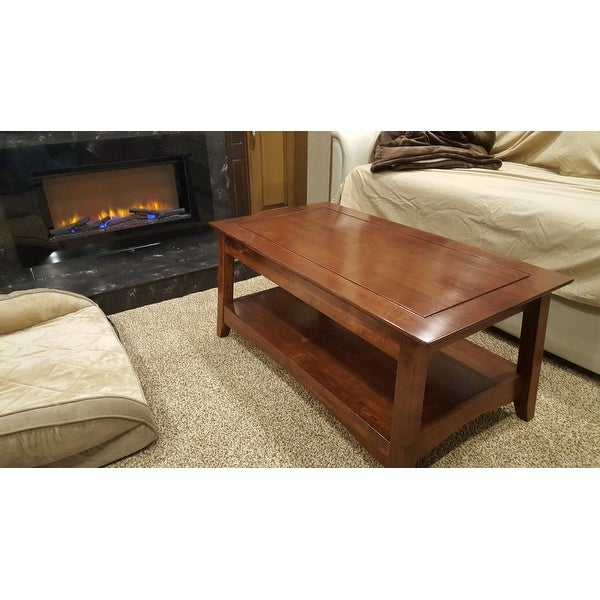 Featured Image of Unfinished Solid Parawood Bombay Tall Lift Top Coffee Tables