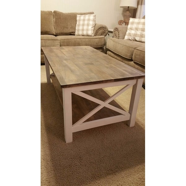 Shop Unfinished Solid Parawood Hampton Coffee Table – Free Pertaining To Unfinished Solid Parawood Hampton Coffee Tables (Image 15 of 25)