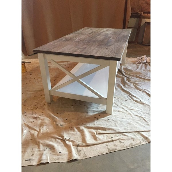 Shop Unfinished Solid Parawood Hampton Coffee Table – Free With Regard To Unfinished Solid Parawood Hampton Coffee Tables (Image 17 of 25)