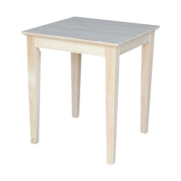 Shop Unfinished Solid Parawood Shaker Tall End Table – Free Pertaining To Shaker Unfinished Solid Parawood Tall Coffee Tables (View 2 of 50)