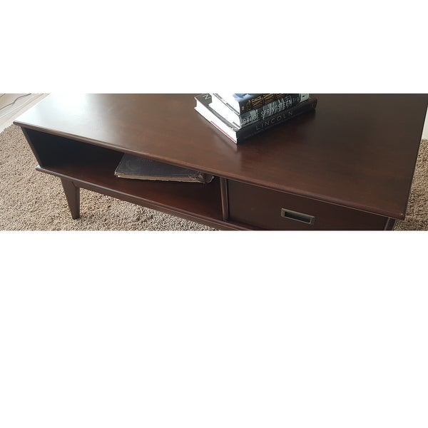 Shop Wyndenhall Tierney Solid Hardwood 48 Inch Wide In Solid Hardwood Rectangle Mid Century Modern Coffee Tables (View 31 of 50)