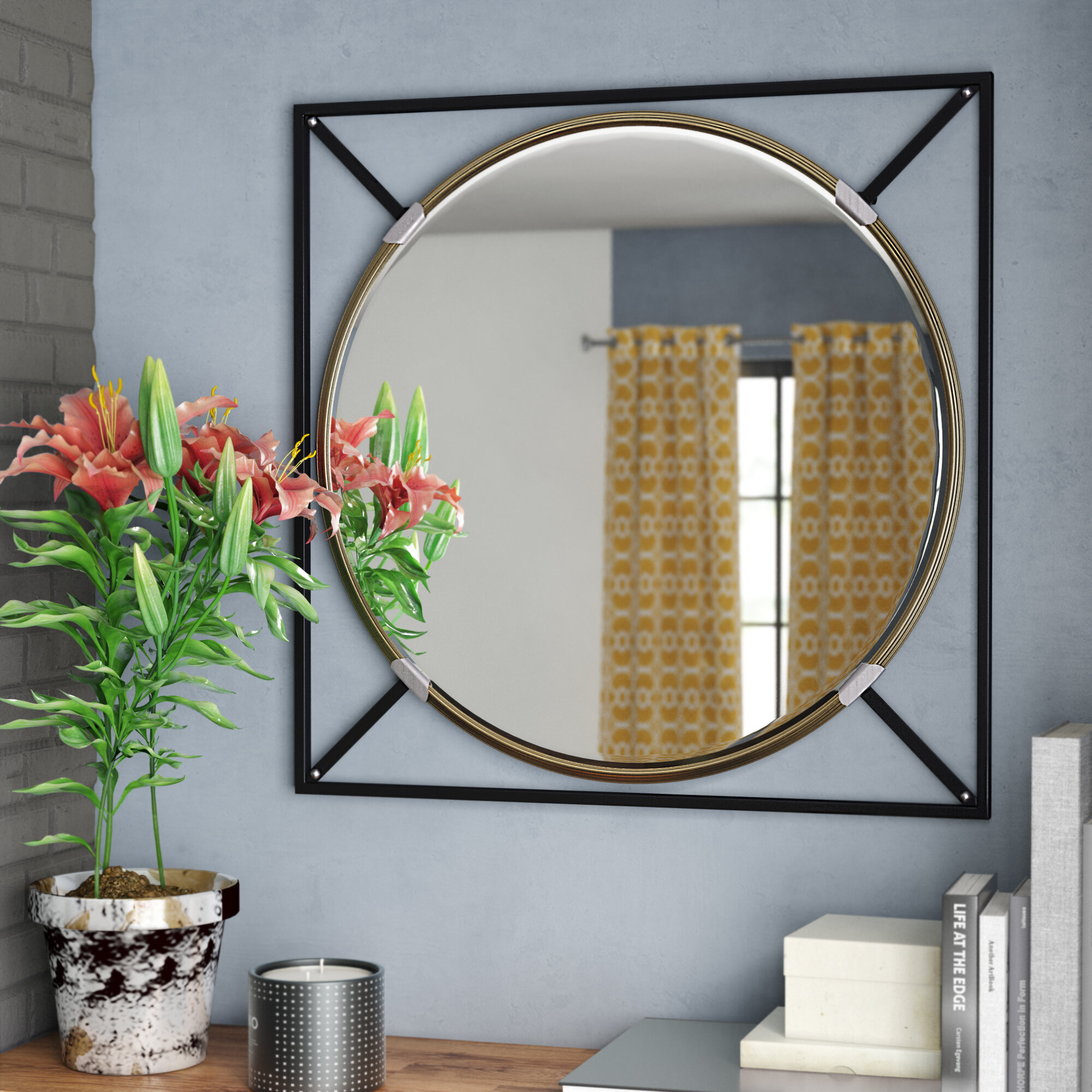 Shultis Oversized Decorative Wall Accent Mirror With Rhein Accent Mirrors (View 17 of 20)