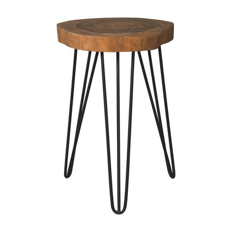 Signature Designashley Eversboro Accent End Table Inside Carbon Loft Fischer Brown Solid Birch And Iron Rustic Coffee Tables (View 8 of 25)