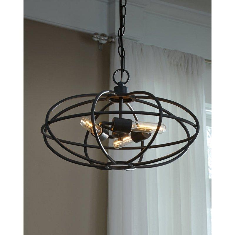 Signature Designashley Kenturah L000708 Pendant Light For Verlene Foyer 5 Light Globe Chandeliers (View 16 of 20)