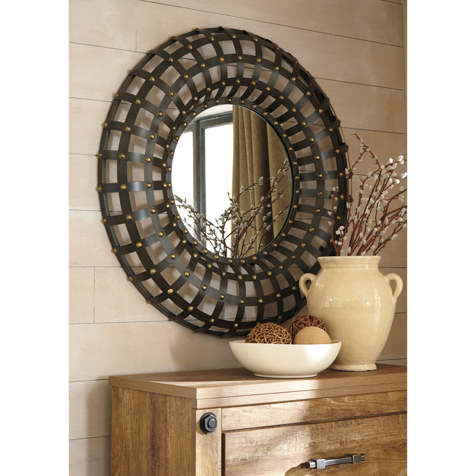 Signature Designashley Ogier Accent Wall Mirror – 36.25W X 36.25H In (Image 20 of 20)