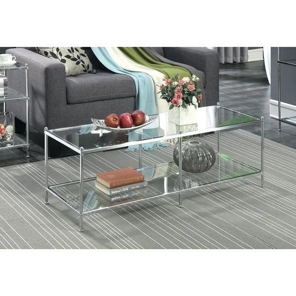 Silver And Glass Coffee Table – Clevergroup (Image 16 of 25)