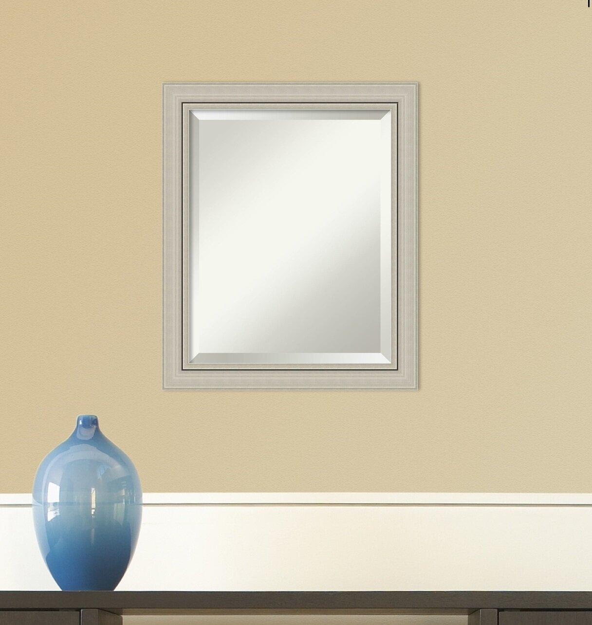 Silver Framed Mirror | Wayfair Within Silver Frame Accent Mirrors (View 18 of 20)