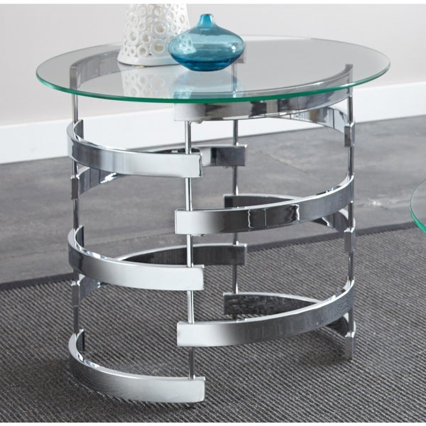 Featured Image of Silver Orchid Bardeen Round Coffee Tables