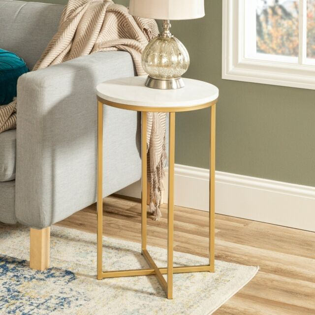 """Silver Orchid Grant 16"""" Round Side Table – 16 X 16 X 24H Intended For Silver Orchid Olivia Glam Mirrored Round Cocktail Tables (View 13 of 50)"""