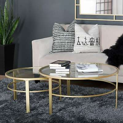 Silver Orchid Marcello Contemporary Glass Top End Table With Silver Orchid Bardeen Round Coffee Tables (View 18 of 25)