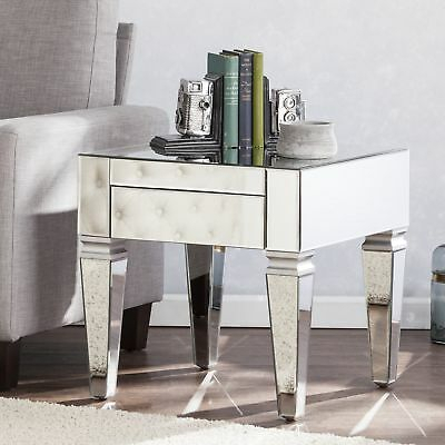 Silver Orchid Olivia Mirrored Coffee/ Cocktail Table For Silver Orchid Olivia Glam Mirrored Round Cocktail Tables (View 50 of 50)