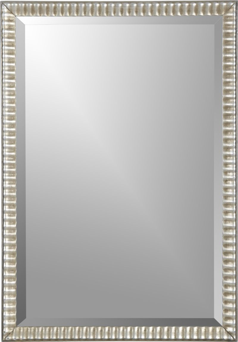 Silver Ripple Mirror In Mirrors | Crate And Barrel Silver Within Stamey Wall Mirrors (Image 17 of 20)