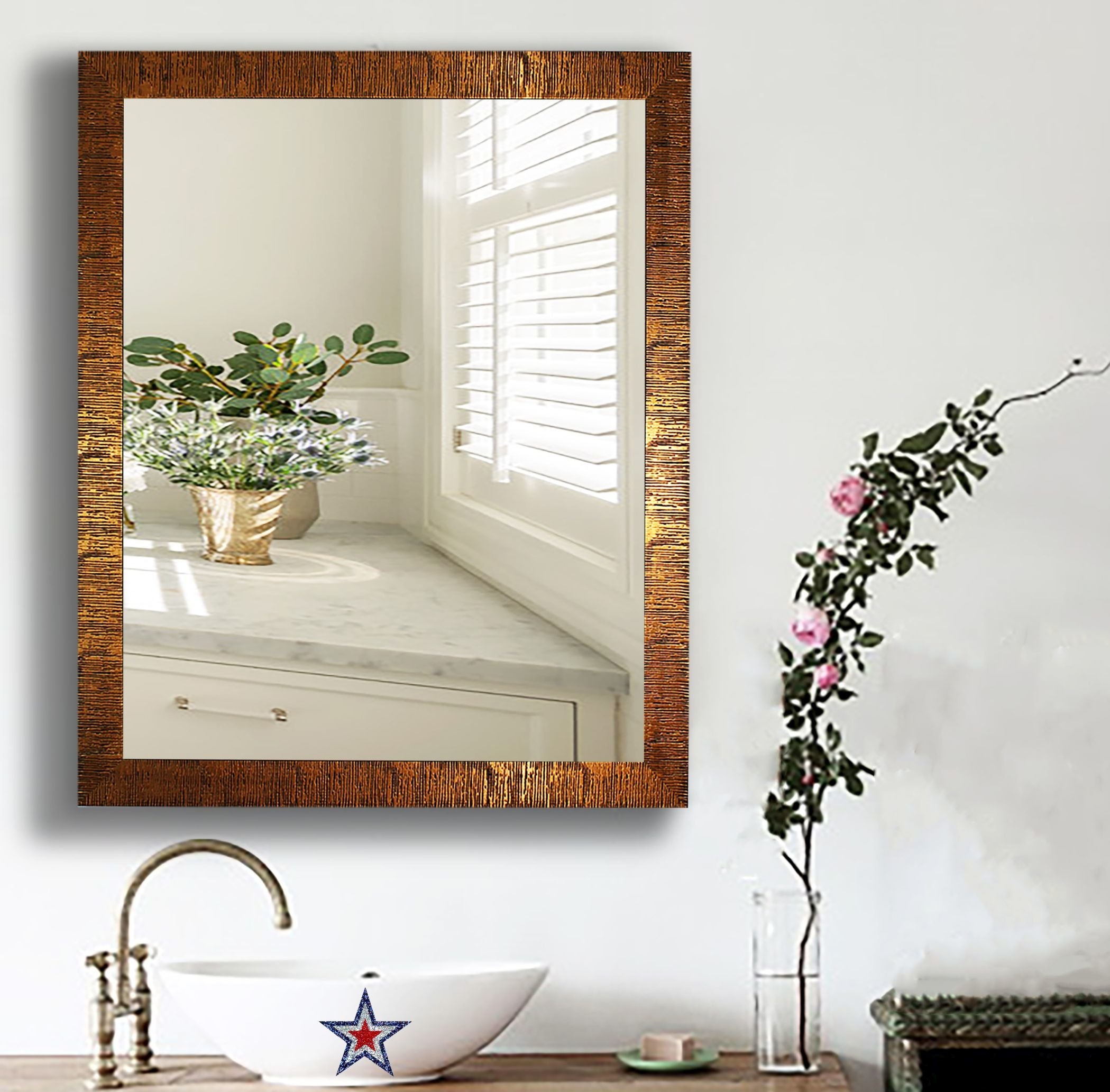 Skeete Traditional Wall Mirror In Epinal Shabby Elegance Wall Mirrors (View 18 of 20)