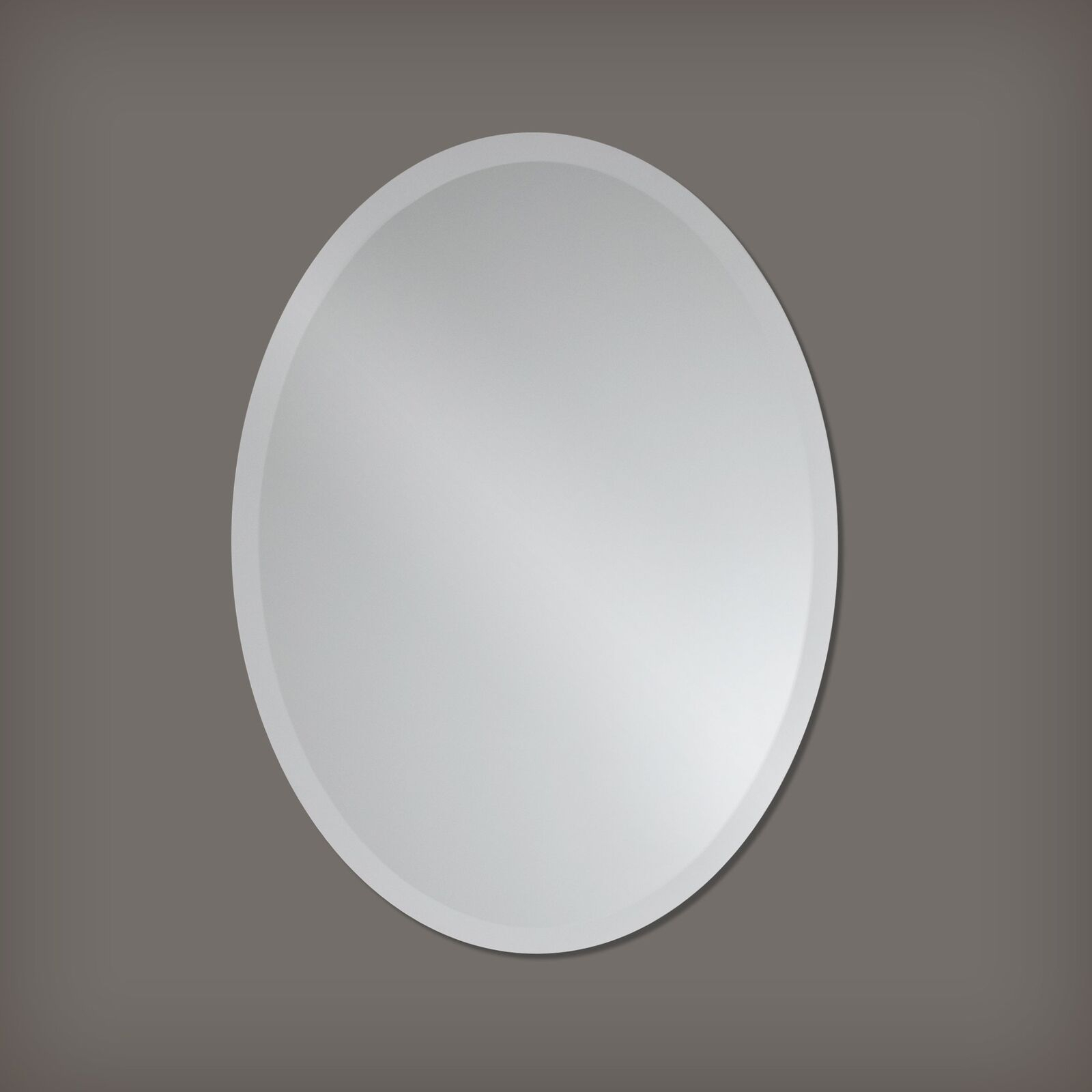 Small Frameless Beveled Oval Wall Mirror Bathroom, Vanity, For Thornbury Oval Bevel Frameless Wall Mirrors (Image 16 of 20)