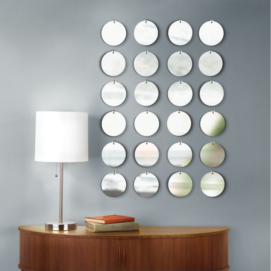 Small Round Mirror Wall Decor : Beauty Round Mirror Wall Pertaining To Decorative Round Wall Mirrors (Image 19 of 20)