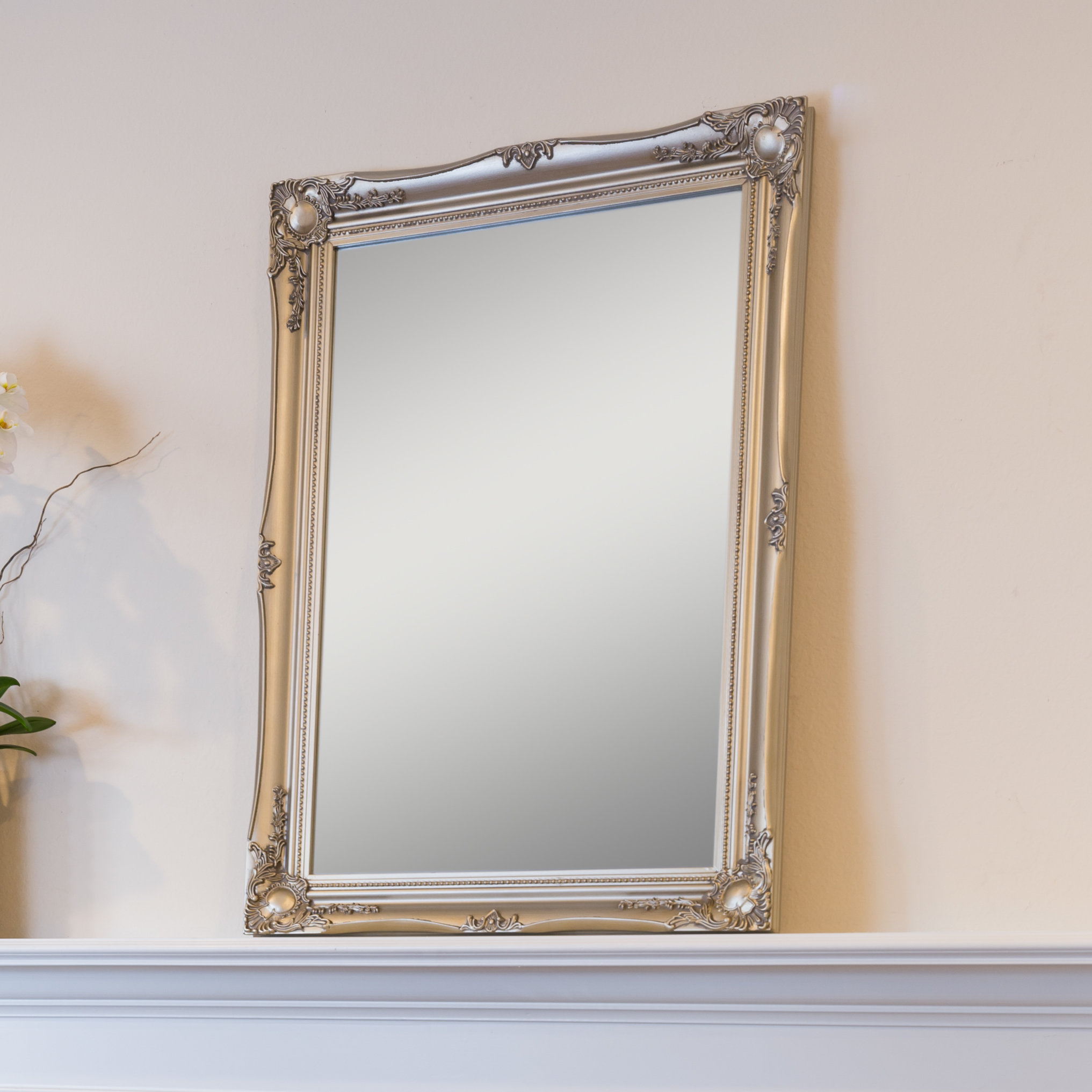 Small Wood Frame Wall Mirror | Wayfair Pertaining To Caja Rectangle Glass Frame Wall Mirrors (View 9 of 20)