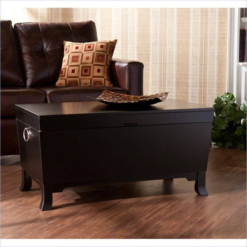 Southern Enterprises Hayden Cocktail Table Trunk In Black For Harper Blvd Ailsa Trunk Cocktail Coffee Tables (Image 19 of 25)