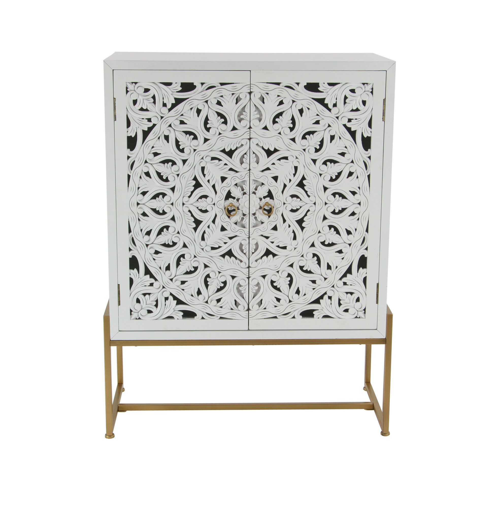 Springhill Traditional Carved 2 Door Accent Cabinet Inside Tifton Traditional Beveled Accent Mirrors (Image 13 of 20)