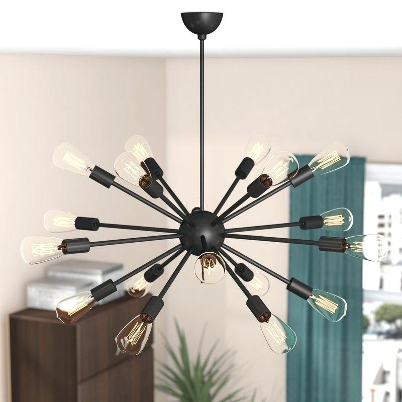 Sputnik 18 Light Chandelier Regarding Defreitas 18 Light Sputnik Chandeliers (Image 16 of 20)