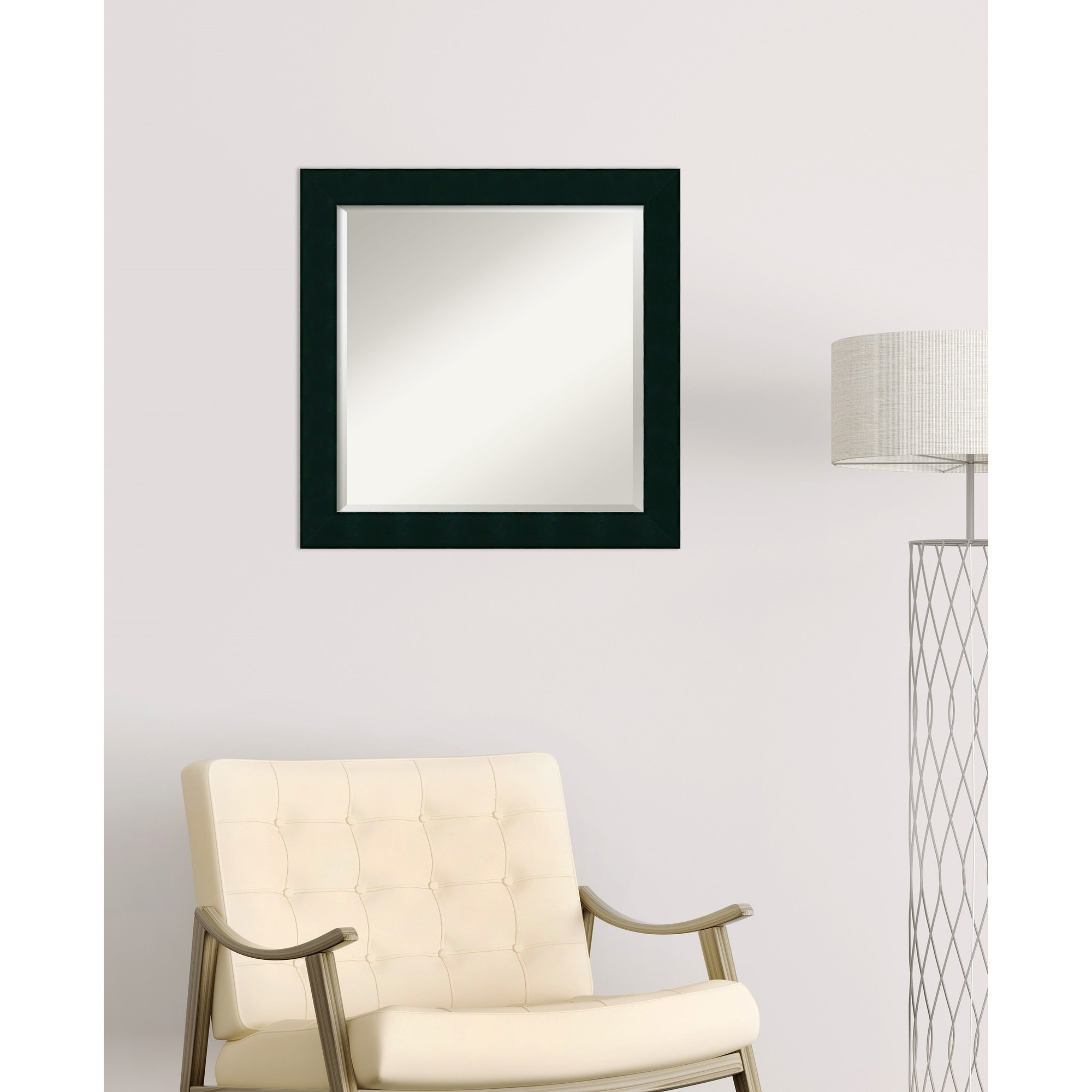 Square Grid Mirror | Wayfair With 2 Piece Priscilla Square Traditional Beveled Distressed Accent Mirror Sets (View 8 of 20)