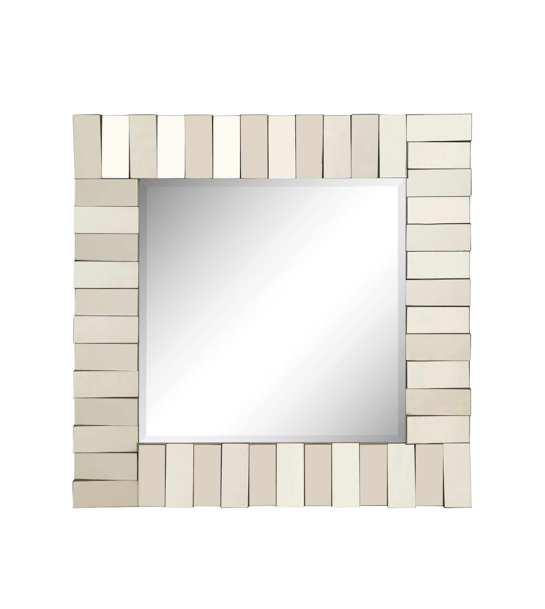 Square Silver Wall Mirror For Pennsburg Rectangle Wall Mirrors (Image 14 of 20)