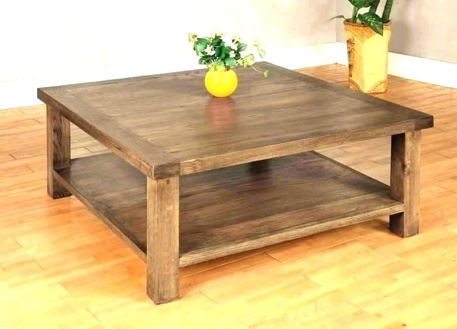 Square Wood Coffee Tables – Longmenexpress (View 6 of 25)