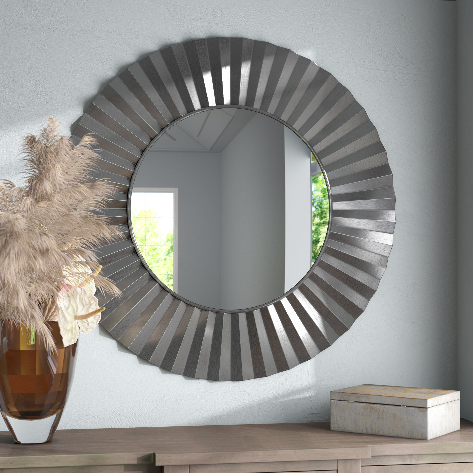 Star Burst Mirror | Wayfair In Carstens Sunburst Leaves Wall Mirrors (Image 17 of 20)
