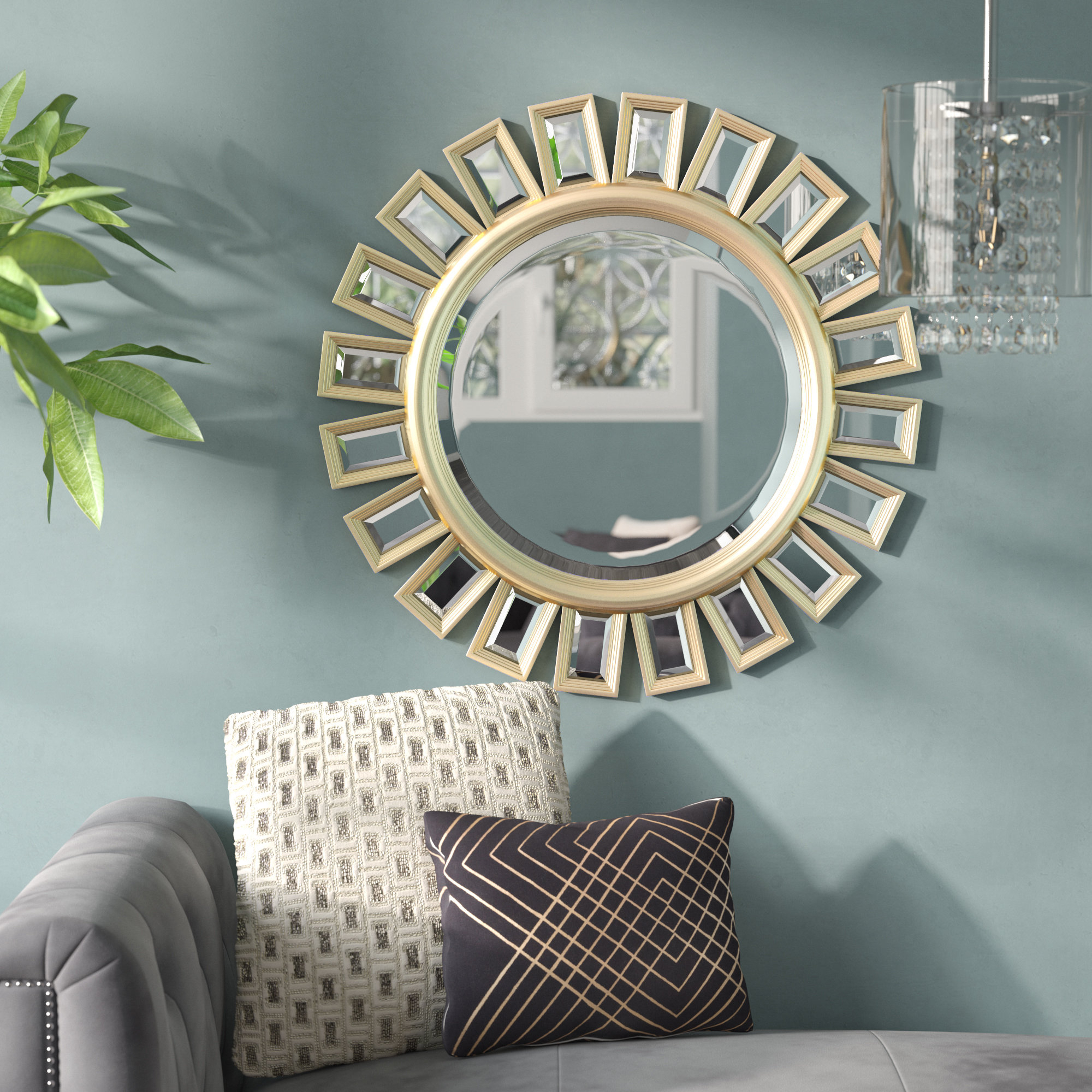 Star Burst Mirror | Wayfair Intended For Carstens Sunburst Leaves Wall Mirrors (Image 18 of 20)