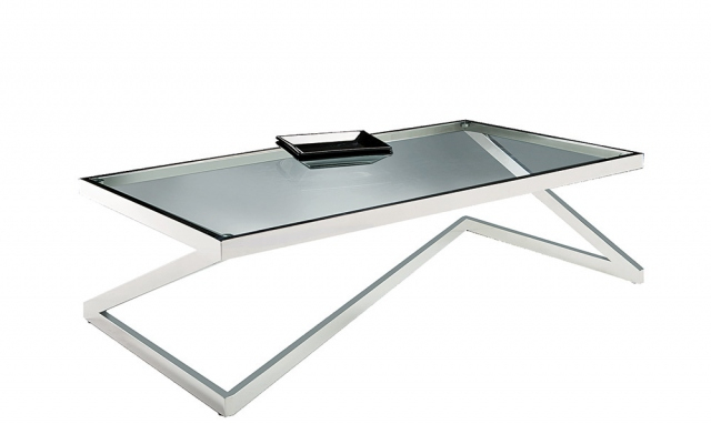 Steel Glass Coffee Table In Carbon Loft Heimlich Metal Glass Rectangle Coffee Tables (View 22 of 25)