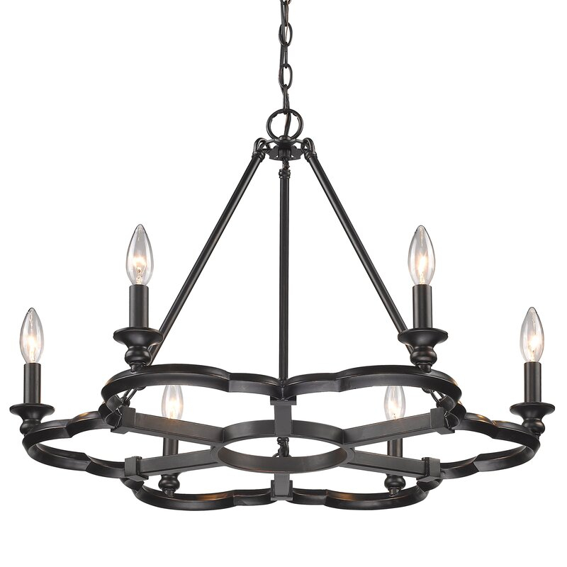 Stephania 6 Light Candle Style Chandelier Pertaining To Perseus 6 Light Candle Style Chandeliers (View 12 of 20)