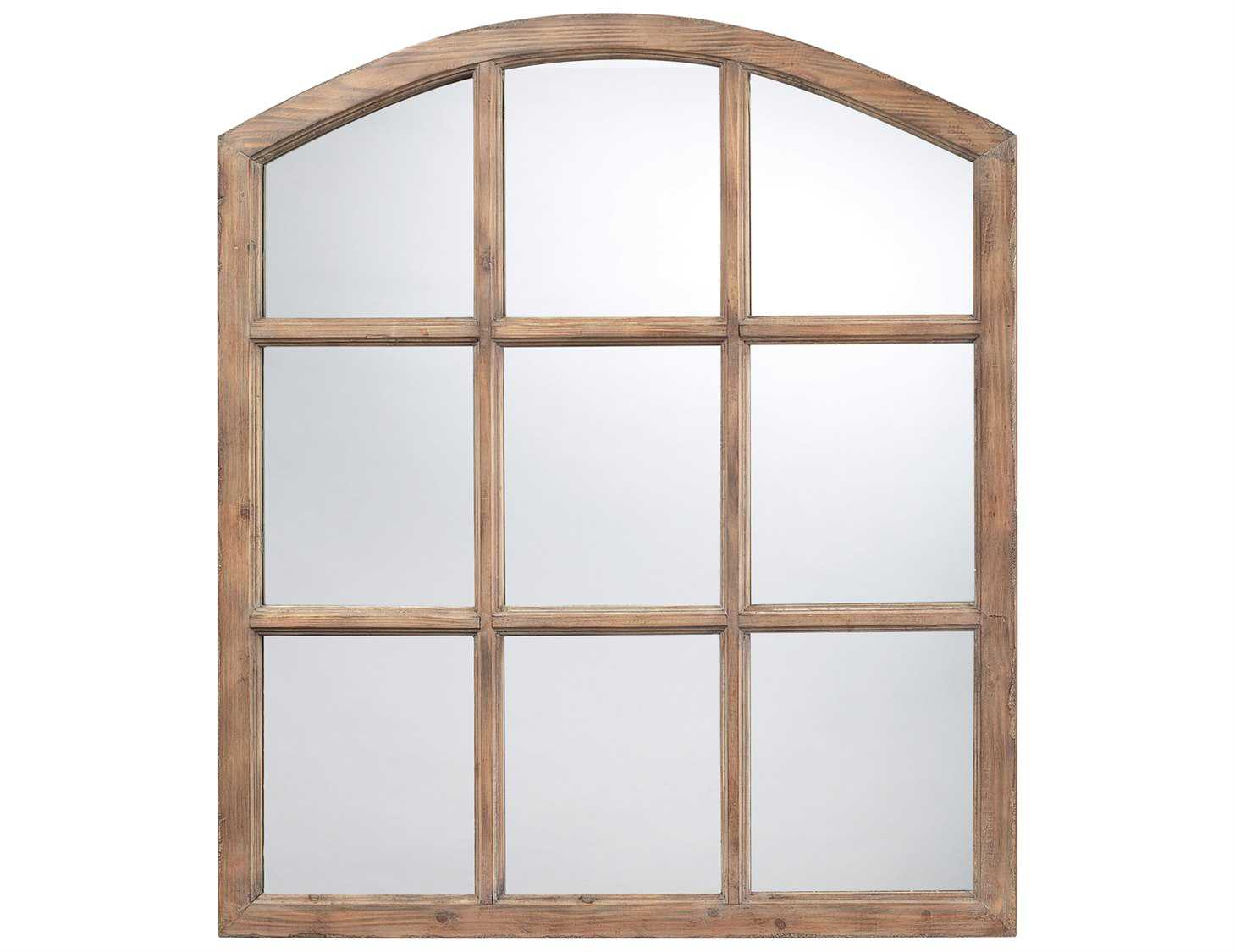 Sterling Union Wood 33 X 37 Faux Window Design Wall Mirror With Regard To Faux Window Wood Wall Mirrors (View 8 of 20)