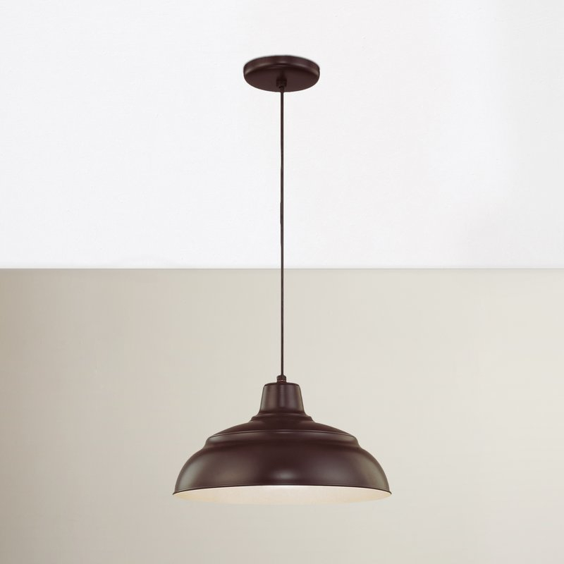 Stetson 1 Light Bowl Pendant With Regard To Adriana Black 1 Light Single Dome Pendants (View 13 of 25)