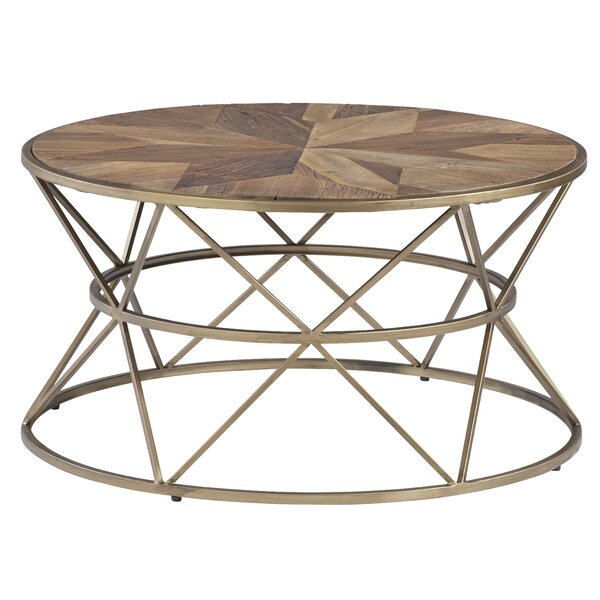 Stone Top Round Coffee Table You'll Love In 2019 | Wayfair With Regard To Silver Orchid Henderson Faux Stone Silvertone Round Coffee Tables (View 13 of 25)
