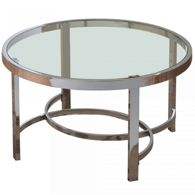 Featured Image of Strata Chrome Glass Coffee Tables