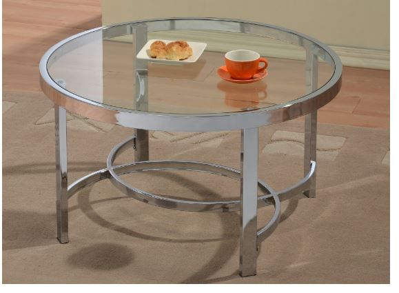 Strata Coffee Table In Chrome Pertaining To Strata Chrome Glass Coffee Tables (View 2 of 25)